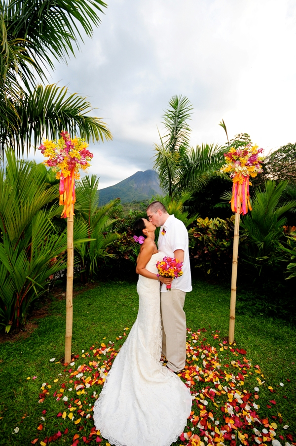 real wedding erin and matthew arenal nayara weddings On costa rica weddings