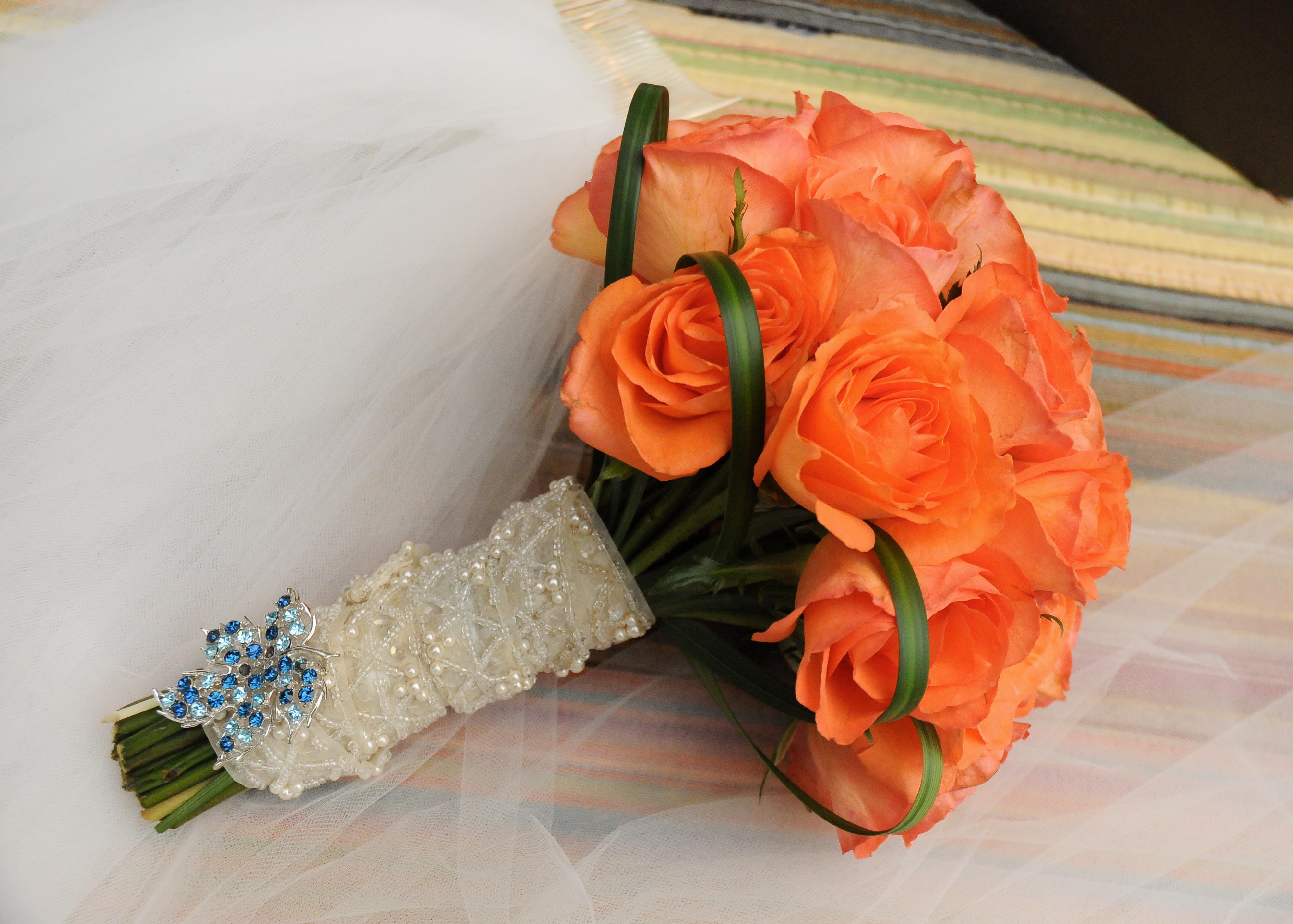 Real Orange Roses