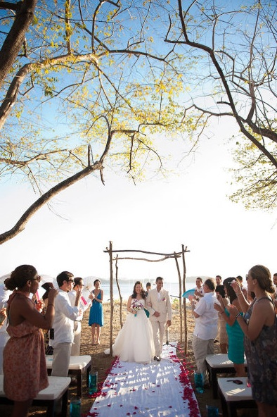 Sugar Beach ceremony
