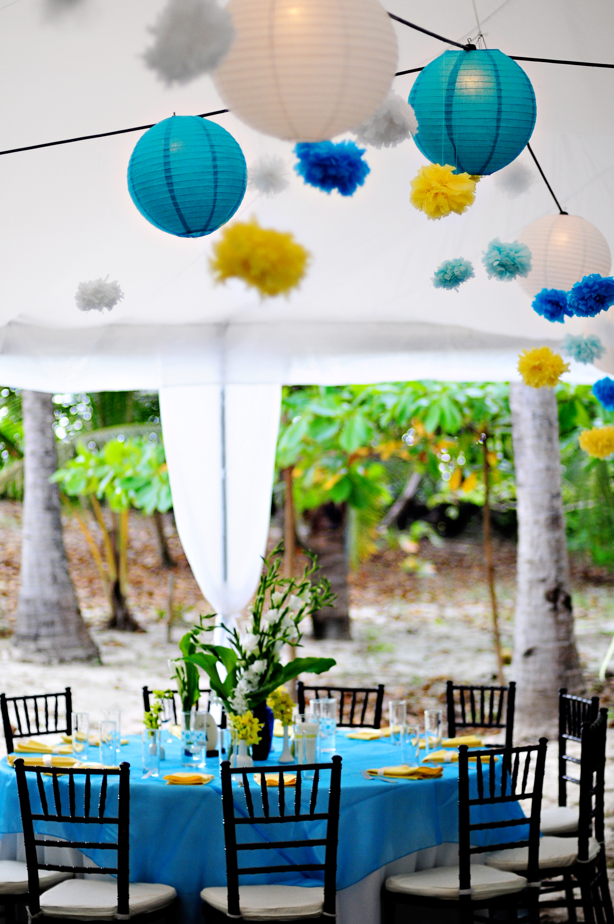 photo of the day blue yellow and green reception weddings costa