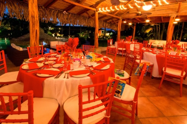 red wedding reception