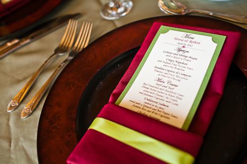 burgundy napkins