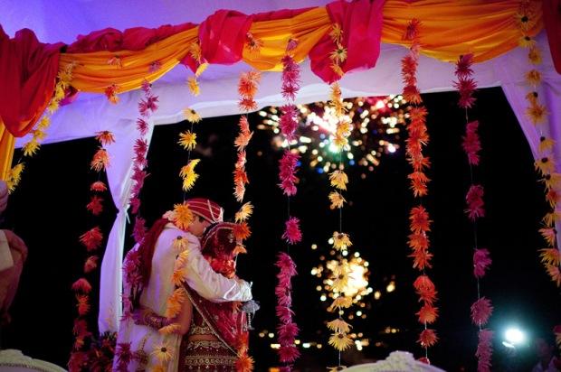 Mehndi Ceremony Fireworks