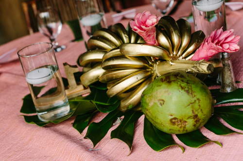 Gold Banana Table Decor