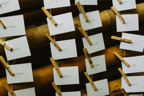 Bamboo Seating Cards