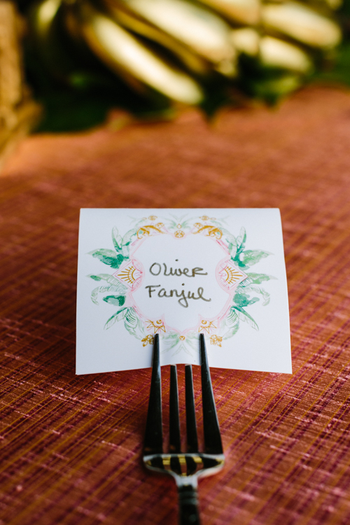 Elegant Tropical Seating Card