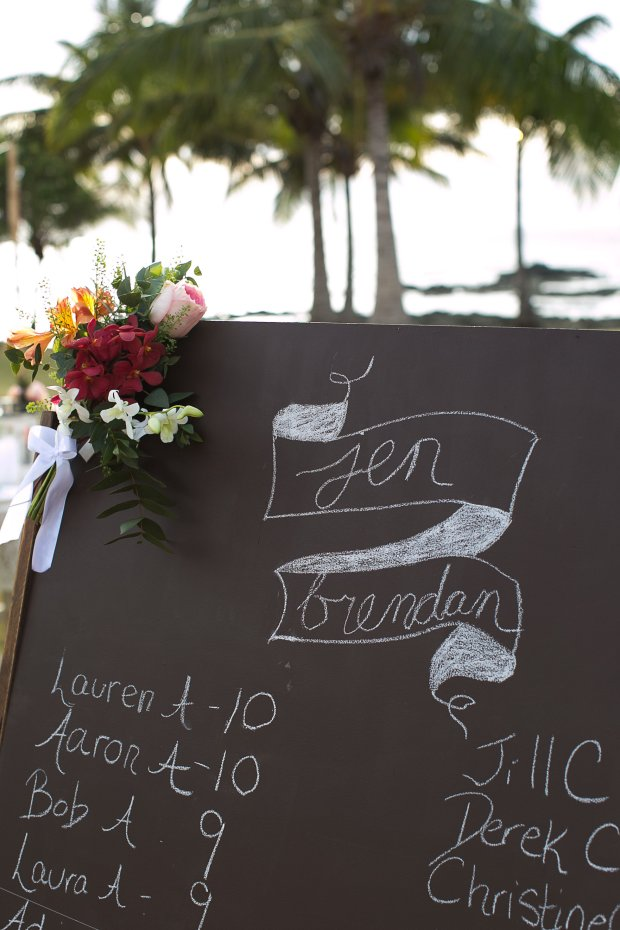 beach wedding, tropical wedding, seating chart, Hacienda Pinilla Beach Resort, las palapas, weddings costa rica