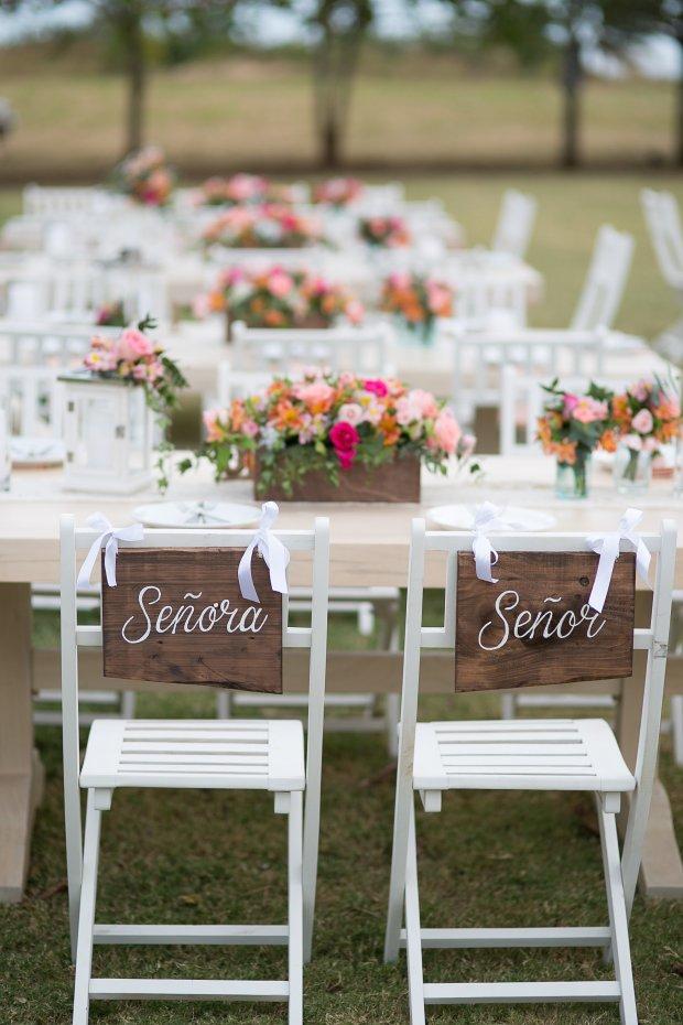 bride and groom chairs, wedding reception, tropical wedding, destination wedding, Hacienda Pinilla Beach Resort, las palapas, weddings costa rica