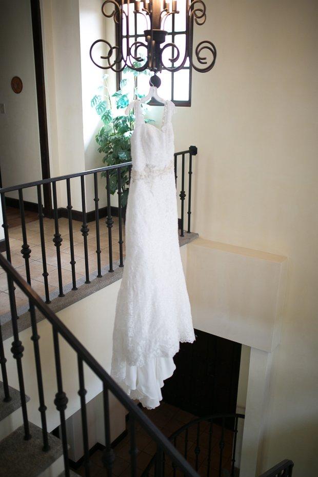 wedding dress, chandelier, hanging wedding dress, Hacienda Pinilla Beach Resort, las palapas, weddings costa rica