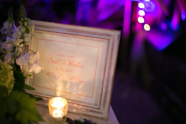 wedding welcome sign, wedding reception, reception entrance, discovery beach house manuel antonio, weddings costa rica