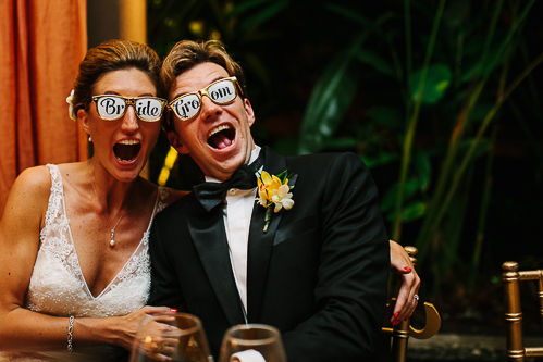 Bride groom glasses, fun wedding, tropical wedding, los altos resort wedding, weddings costa rica