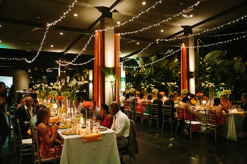 wedding reception, gold theme wedding, wedding reception at night, los altos resort wedding, weddings costa rica