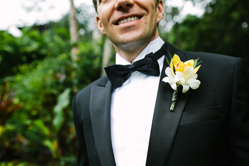 boutonniere, groom with boutonniere, tuxedo, los altos resort wedding, weddings costa rica