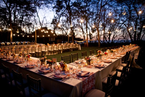 beach reception, wedding reception, twilight reception, table decor, Reserva Conchal Beach Club, Weddings Costa Rica