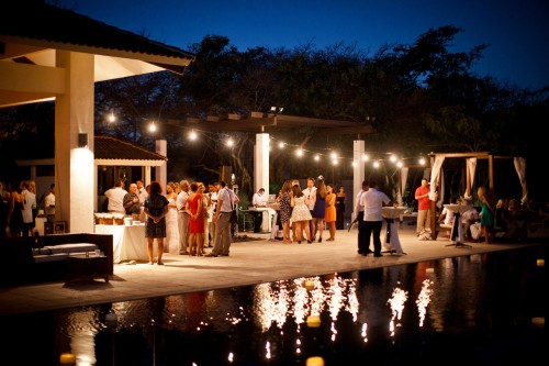 pool side reception, wedding reception, Reserva Conchal Beach Club, Weddings Costa Rica