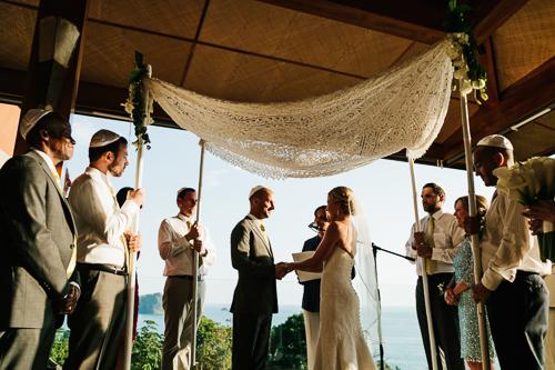 chuppah wedding canopy Jewish wedding tropical wedding wedding vows punto de & white green brown wedding u2013 Weddings Costa Rica