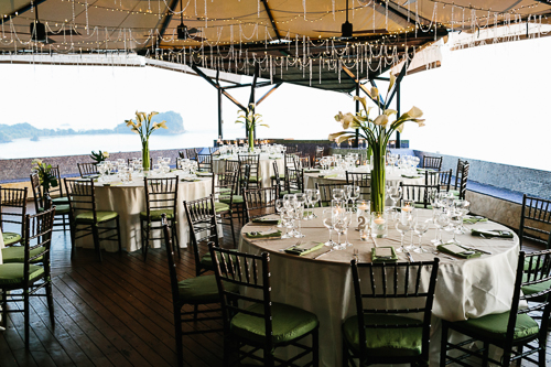 wedding reception, ocean view wedding, ocean view reception, punto de vista costa rica wedding, weddings costa rica