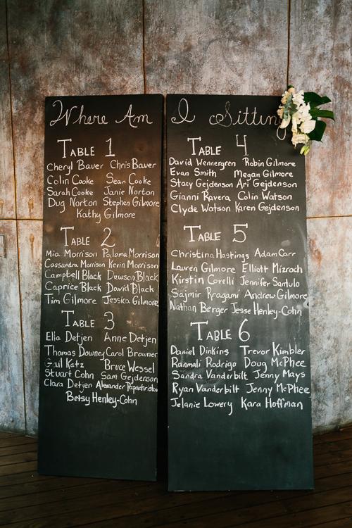 seating chart, wedding seating chart, seating chart chalk board, punto de vista costa rica wedding, weddings costa rica