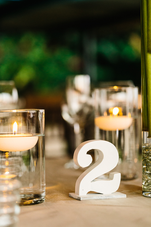 wedding table, table number, floating candles, punto de vista costa rica wedding, weddings costa rica