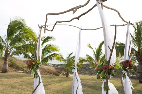 wedding canopy, wedding arch, ceremony site, beach wedding, wedding ceremony, Hacienda Pinilla Beach Resort, las palapas, weddings costa rica