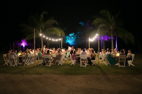 tropical wedding, wedding reception, palm trees, destination wedding, Hacienda Pinilla Beach Resort, las palapas, weddings costa rica
