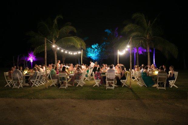 tropical wedding, wedding reception, palm trees, destination wedding, Hacienda Pinilla Beach Resort, las palapas, weddings costa rica