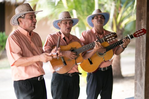 wedding singers, latin band, tropical wedding, costa rican band, Hacienda Pinilla Beach Resort, las palapas, weddings costa rica