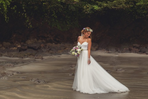 bride on the beach, beach wedding, costa rica weddings, tropical wedding, beach bride, tulemar, weddings costa rica