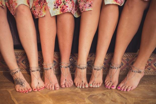 foot jewelry, beach wedding foot jewelry, bridesmaids foot jewelry, beach wedding, tulemar, weddings costa rica