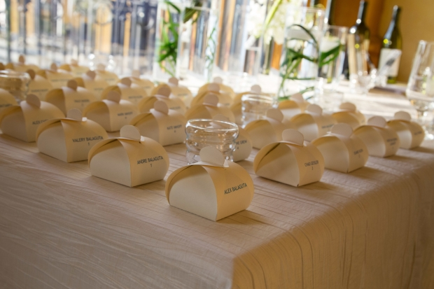 wedding place cards, wedding favors, luxury wedding Zephyr Palace, weddings costa rica