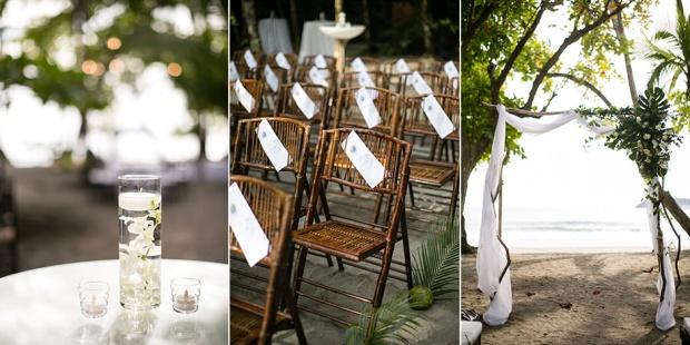 floating candle, wedding programs, beach wedding, ceremony site, wedding arch, tropical wedding