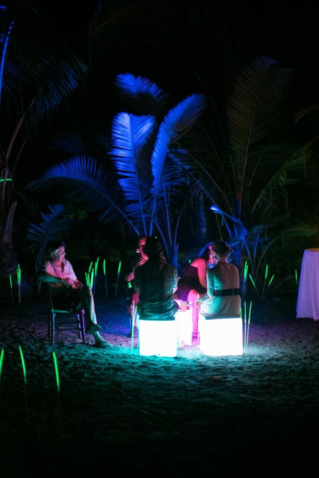 glow furniture, beach wedding glow furniture