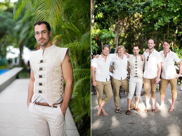 groom and groomsmen, tropical wedding, alternative wedding