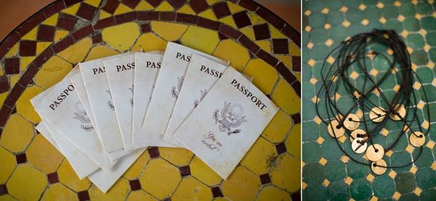 Wedding passport, destination wedding, wedding necklace