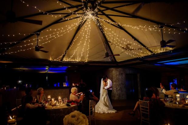 bride and groom dancing, wedding dance, wedding reception, tropical wedding, weddings costa rica