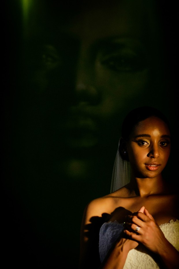 bride, bride in shadows, mystical bride, weddings costa rica