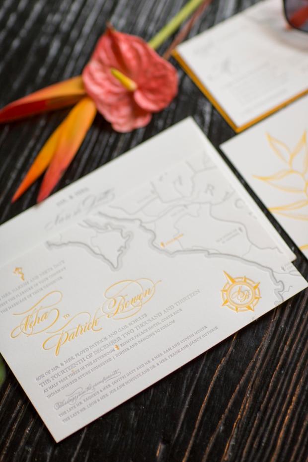 costa rica wedding invitation, wedding invitation, destination wedding, weddings costa rica