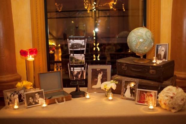 picture arrangement, pictures of relatives, retro wedding decor, international wedding decor, weddings costa rica