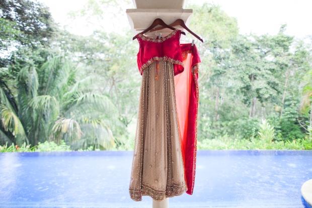 Sari wedding dress, tropical wedding, indian wedding dress, weddings costa rica