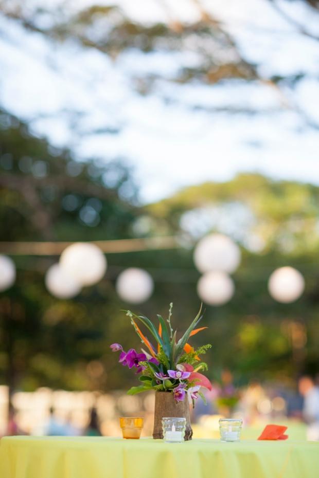 Tropical flower arrangement, garden party, weddings costa rica