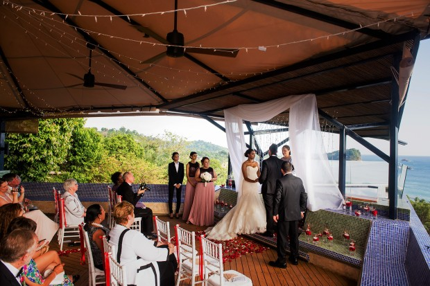 wedding ceremony, tropical wedding, punto de vista wedding, costa rica wedding, weddings costa rica