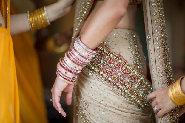 wedding sari, sari, beaded sari, sari with jewels, weddings costa rica