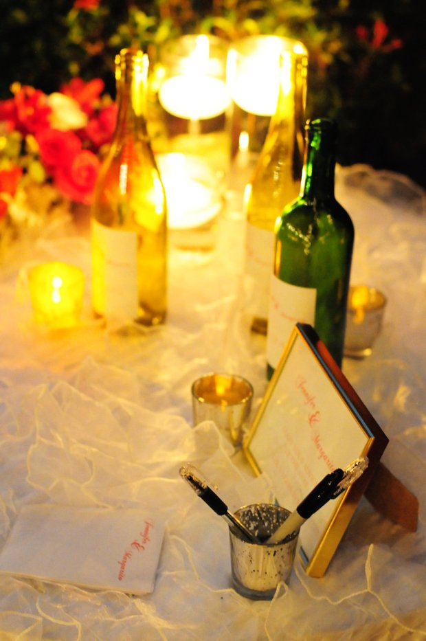 wedding reception, message in a bottle, weddings costa rica
