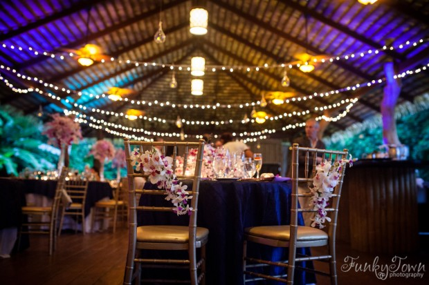 wedding reception, tropical wedding reception, tropical wedding, orchid theme wedding reception, arenal wedding, weddings costa rica