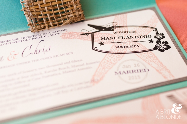 Destination wedding, wedding passport, passport invitation, destination wedding ticket
