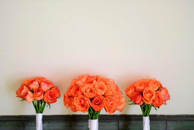 rose bouquets, wedding bouquets, orange rose bouquet