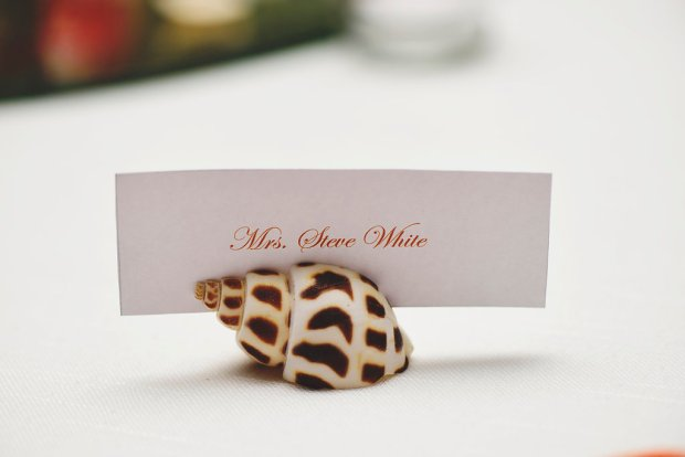 seashell place holder, seashell name tag holder