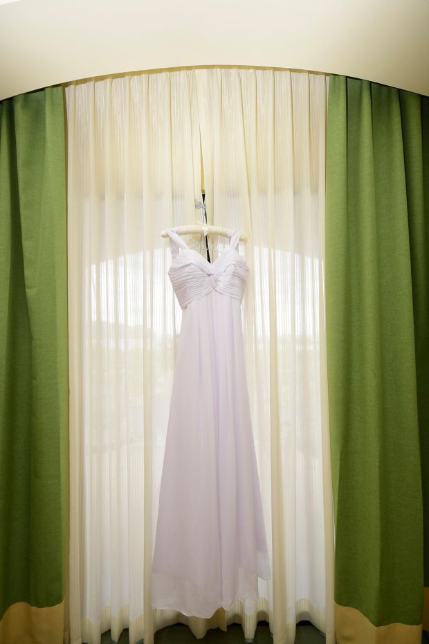 Wedding dress, wedding dress on hanger