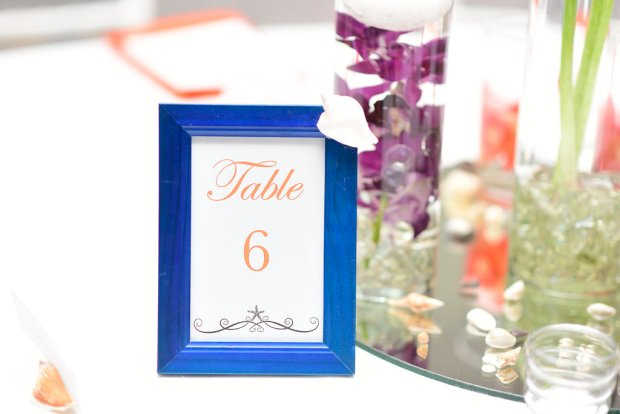 wedding reception, table number, table number picture frame