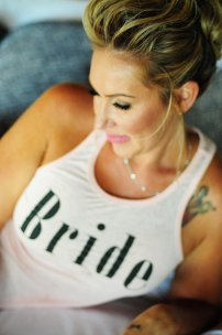 bride relaxing in Bride tshirt, Weddings Costa Rica, Punto de Vista wedding